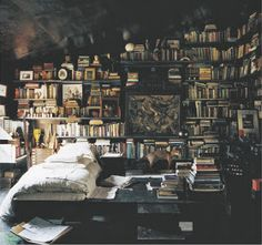 Bohemian Twilight: books in a boho home