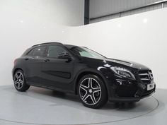Mercedes Benz GLA 220CDi 4Matic AMG Line Premium Plus Finished in Cosmos Black with Black Artico / Dinamica Interior. For more images and spec: http://www.simonjamescars.co.uk/mercedes-gla220-cdi-4matic-amg-line-premium-plus-in-derbyshire-3941234