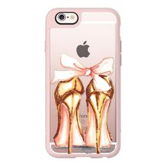 iPhone 6 Plus/6/5/5s/5c Case - Golden heels ($40) ❤ liked on Polyvore featuring accessories, tech accessories, iphone case, iphone cover case, apple iphone cases and iphone hard case