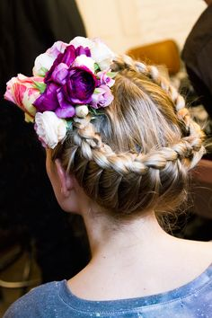 Braided crown with flowers.