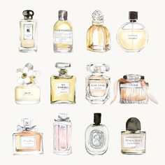 We love illustrator Sally Spratt's series of watercolor drawings inspired by all things lust worthy and covetable. It's a clever way to fulfill that dangerous shopping void – if she can't have them, she draws them!