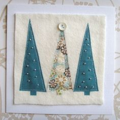 New christmas quilting ideas appliques Ideas Homemade Christmas Cards, Christmas Cards To Make, Christmas Art, Handmade Christmas, Fabric Cards, Fabric Postcards, Christmas Sewing Projects, Christmas Crafts, Christmas Applique