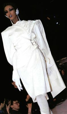 Iman walking for Thierry Mugler A/W 1986