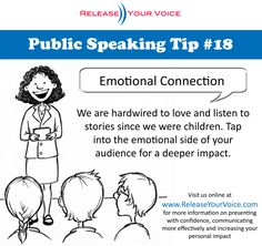 <> Public Speaking Tip #18 - Emotional Connection