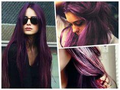 cabello pintado de color violeta - Buscar con Google