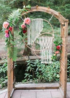 30 Free-Spirited Bohemian Wedding Ideas ❤ The stylistics of the boho wedding is easy to create and it is so beautiful. We have collected the best bohemian wedding ideas for your inspiration. Wedding Ceremony Arch, Wedding Altars, Ceremony Backdrop, Boho Wedding, Wedding Flowers, Wedding Arches, Summer Wedding, Forest Wedding, Woodland Wedding