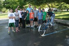 Mr. Paul Claxon along with twelve students from the Pendleton Elementary, Intermediate, held a bike safety check and give away today at the local library. In total, 40 bikes were checked, repaired and cleaned during the event. Of the 40 bikes, 22 were donated by area residents and distributed to children within our community.  For more news checkout our Facebook page at https://www.facebook.com/pendletongazette.