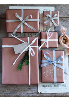 Copper Wrapping Paper - Christmas