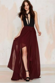 The Gift of Wrap Skirt - Red - Clothes