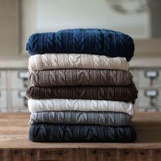 Navy Blanket Throw | Boll & Branch Blankets