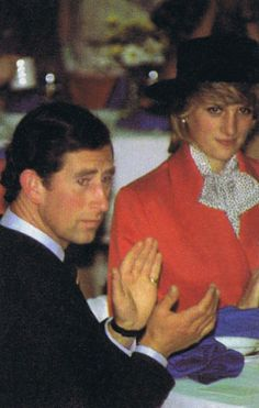 June 16, 1983:  Prince Charles & Princess Diana attending a Lobster Luncheon in Bridgewater, Nova Scotia.  (Day 3)