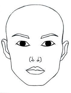 photo regarding Makeup Face Template Printable named Make-up Facial area Template Printable Pdf