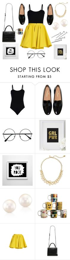 """""""Sin título #768"""" by pilitagoico ❤ liked on Polyvore featuring Baguette....., Rochas, Kate Spade, Merci Me London and MaxMara"""