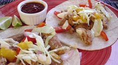 Chipotle Pork Tacos with Mango-Cabbage Slaw