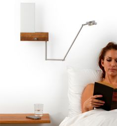 the cubo a hybrid led wall sconce and reading lamp from cerno bedside sconce lighting
