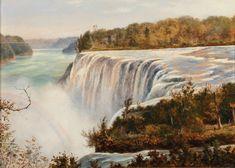 Edward Roper   Doyle Auction House American Falls, Girl Sign, Natural Wonders, American Artists, Continents, Niagara Falls, Goats, Art Decor, English