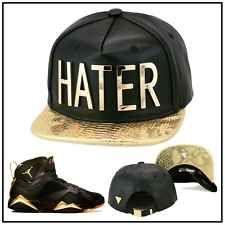Hater Strapback Hat Black Leather Gold snapback foamposite jordan 12 the  master 440790d4aa1e