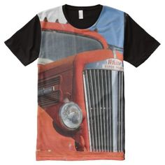 Vintage Truck All-Over-Print T-Shirt - click/tap to personalize and buy Stylish Shirts, S Shirt, Vintage Shops, Custom Design, Print Design, Trucks, Sleeves, Cotton, How To Wear