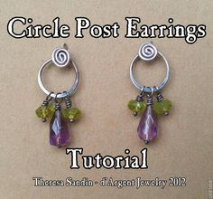 TUTORIAL  Circle Post/Stud Earrings by dArgent on Etsy, $4.00