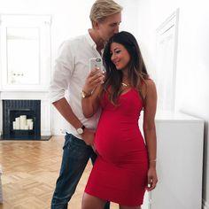 Mimi Ikonn Preggo Style, Mimi Ikonn Pregnant, Red Dress, London