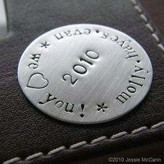 Custom Hand Stamped Jumbo Golf Marker- Personalized Sterling Silver - Perfect Gift for Father's day