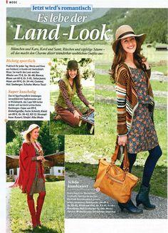 "Perfekte Herbst-Outfits in der ""Bild der Frau""    Hier ein süßes Krawattenmuster Kleid von KD12 (unten links) ♥    Im SALE im KD12 Online Shop    http://www.kd12.de/shop/sale?page=shop.product_details=flypage_div.tpl_id=249_id=7"