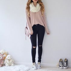24 Best Ideas Fashion Outfits For Teens Beanie Instagram Look, Instagram Fashion, Outfits For Teens, Casual Outfits, Fashionable Outfits, Dress Casual, Unique Outfits, Casual Chic, Casual Wear