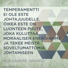 Temperamentti ei ole este johtajuudelle
