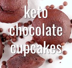 So you thought going low carb meant no chocolate cupcakes? Think again! Keto Desserts, Chocolate Cupcakes, Low Carb, Cookies, Food, Biscuits, Meal, Essen, Hoods