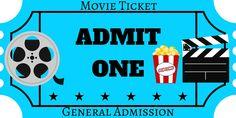 FREE Printables | Movie Night Ticket | Printable Movie Ticket