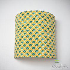 """pour chambre enfants? ... Appliques murales, Applique murale """"Coquillage"""" géométrique jaune est une création orginale de lejardindemamere sur DaWanda"""