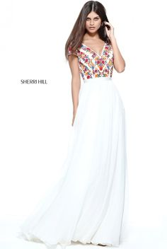 a1a29b37a0f 51112 - SHERRI HILL Floral Prom Dresses