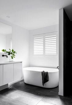 Bathroom some ideas, bathroom renovation, bathroom decor and master bathroom organization! Master Bathrooms could be beautiful too! From claw-foot tubs to shiny fixtures, they are the bathroom that inspire me probably the most. Bathroom Goals, Laundry In Bathroom, Bathroom Renos, Bathroom Layout, Bathroom Interior Design, Bathroom Renovations, Bathroom Ideas, Bathroom Designs, Bathroom Inspo