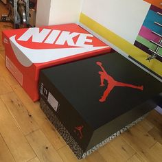 Designer Builds A Sneaker Cabinet That Looks Like A Gigantic Nike Shoebox