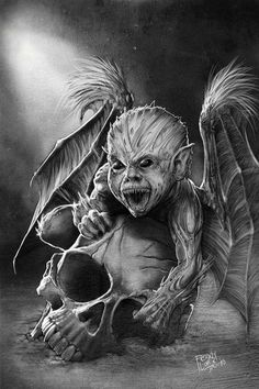 Lovecraft Baby Demon-Painted by ~GraphicGeek
