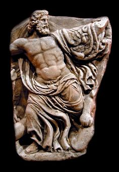Ancient Carving of Zeus