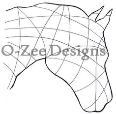 Horse Zentangle Outline. PDF Template - A4
