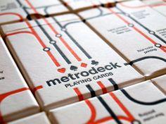 Cartas impresas sobre billetes de metro * Playing cards printed on metro tickets *