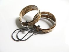 Hoop Earrings brass metalwork metalsmith metal by lucialaredo