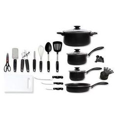 Gibson Home Total Kitchen 28-Piece Cookware and Kitchen Tool Set
