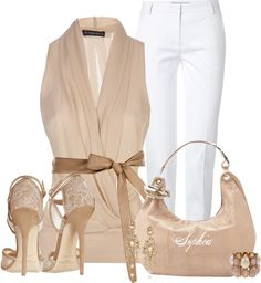 A fashion look from May 2013 featuring Plein Sud blouses, Emilio Pucci pants y Jimmy Choo sandals. Browse and shop related looks. Classy Outfits, Chic Outfits, Fashion Outfits, Womens Fashion, Fashion Tips, Fashion Trends, Fashion Ideas, Dress Fashion, Elegant Style Women