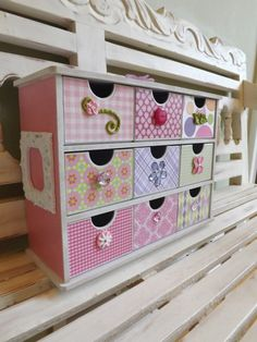 Jewelry Box Organizer Girly Baby Trinkets Chest Collectibles Girl Room Vanity Hair Bows Barretts Birthday Gift Treasure Chest