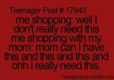Like I dont want to spend my money but I want to spend all my parents money lol