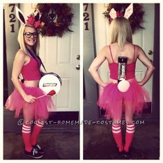 DIY Sexy Energizer Bunny Costume... This website is the Pinterest of costumes