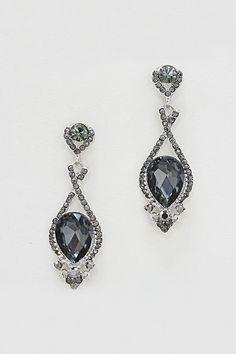 Crystal Daphne Earrings in Black Diamond on Emma Stine Limited