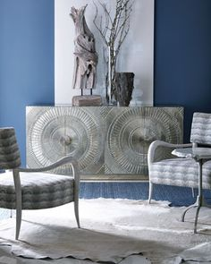 Libra+Nickel-Plated+Console+by+Bernhardt+at+Horchow.