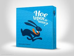 Hoe lopen de hazen - game, packaging, illustration, graphic design (The Ad Agency, www.theadagency.nl)