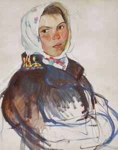 Children by Zinaida Yevgenyevna Serebriakova 1884-1967