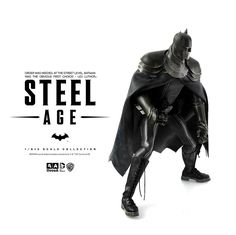 3A STEEL AGE - BATMAN$240  on 31st DEC 2015  ONE6TH Scale Collectible Figure Series Designed by Ashley Wood