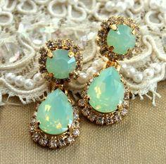 Neon yellow Turquoise Emerald Rhinestone Crystal chandelier ...